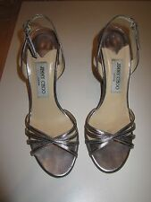 Jimmy Choo silver metallic slingback size 8.5  excellent condition