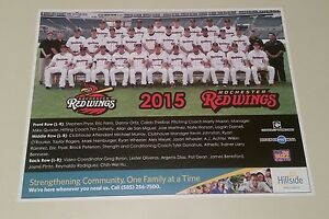 2015 AAA SGA Rochester Red Wings team photo picture rookie rookies TWO DIFFERENT
