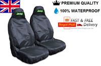 JEEP WRANGLER PREMIUM CAR SEAT COVERS PROTECTORS 100% WATERPROOF / BLACK