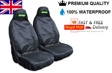JEEP RENEGADE PREMIUM CAR SEAT COVERS PROTECTORS 100% WATERPROOF / BLACK