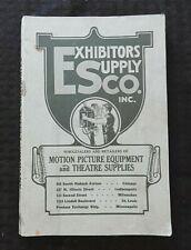 1920's Hollywood Film Mouvement Image Et Théâtre D Catalogue Simplex Caméras