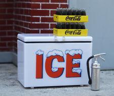Premium 4 Pc Ice Chest Miniature Set 1/24 Scale G Scale Diorama Accessory Items