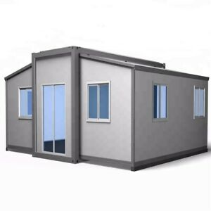 SMALL EXPANDABLE HOUSE - Butterfly Style Prefab House, Fully Assembled, 28 sqm