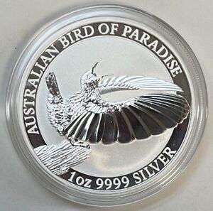 2018 1 Oz. Australia Bird of Paradise .999 Silver BU Coin In Capsule