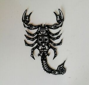 Steampunk Scorpion Handmade Sew-On Embroidered Patch