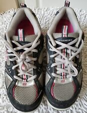 SKECHERS Women's Shape Ups 11806 Pink/Silver/grey Walking Shoes Size 8