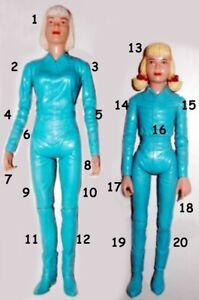 "1968 BEST OF WEST 9"" 12"" marx cowgirl doll -- JANE JANICE JOSIE -- HEAD ARM LEG"