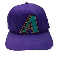 Vintage Arizona Diamondbacks Purple Snapback Baseball Hat MLB