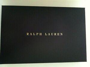 "POLO RALPH LAUREN NAVY GIFT BOX SIZE: 15 7/8""X 10 3/8""X 2 1/4"""