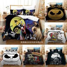 The Nightmare Before Christmas Bedding Set 3PCS Quilt Duvet Cover Pillowcase