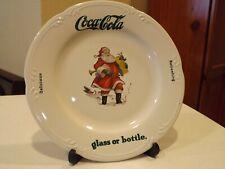Pfaltzgraff Coca Cola Ceramic Santa Christmas Plate 10 1/2 in. USA