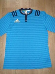 FIR F.I.R Italy Italia Adidas Rugby Jersey Shirt Blue Stripe Men's L Large New