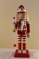 Christmas Decoration - Standing Red and White Soldier Nutcracker Holding Baton