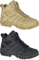 MERRELL Moab 2 Mid Waterproof Tactical Military Army Combat Desert Boots Mens