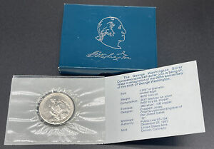 1982-D George Washington Uncirculated Silver Half Dollar 50c Coin Blue Box + COA