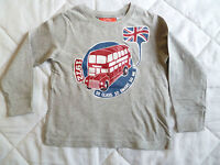 Sweat /T-Shirt Manches Longues Gris NEUF Bus London Taille 6 Ans Marque :Okaou