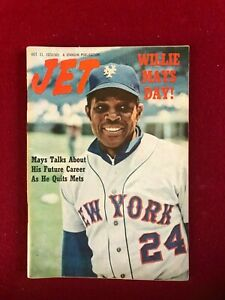"1973, Willie Mays, ""JET"" Magazine (No Label) Scarce / Vintage (NY Mets)"