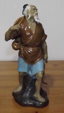 Vintage Chinese Shiwan Mudman Figurine / Ornament Of a Fisherman 25 cm Tall