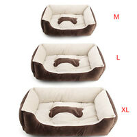 LARGE LUXURY WASHABLE PET METTRESS DOG PUPPY CAT BED CUSHION SOFT MAT WARM BROWN