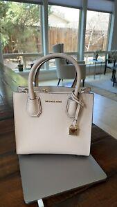 Michael Kors Mercer Medium Leather Crossbody Messenger Bag NWT - Soft Pink