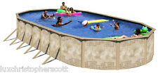 "Deep Salt Oval 18' x 45' x 72"" Above Ground Steel Swimming Pool Package w/ Pump"