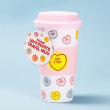 Swizzels Love Hearts Travel Mug Coffee Tea Cup Insulated