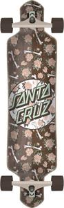"Santa Cruz Floral Decay Dot 9.2"" x 41"" Drop Through Factory Longboard Complete"