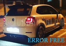 VW POLO Xenon White LED Number Plate LIGHT Bulbs CANBUS ERROR FREE 09-14
