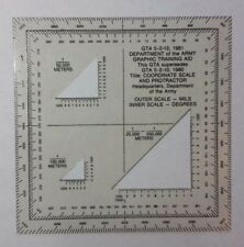 US MILITARY MAP READING COORDINATE SCALE AND PROTRACTOR GTA 5-2-12