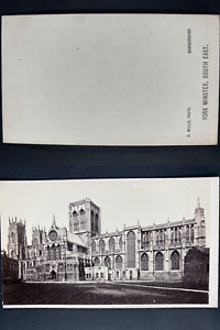 Willis, Angleterre, York, Cathédrale Vintage cdv albumen print CDV, tirage alb