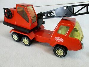 Vintage 1974 mini Tonka orange crane construction truck no. 1099