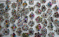 LOT de 50pcs rhinestone mix rings bagues