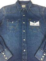 Wrangler Jeanshemd Jeans Hemd Year mittelblau langarm Größe von L bis 3XL
