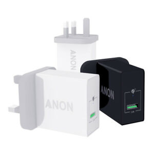 GENUINE ANON MAINS FAST CHARGER PLUG USB UK FOR ZTE NUBIA X Z18 AXON 9 PRO