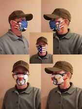 Masks w/ Statue of Liberty Bald Eagle US Flag for 4th - Breathable Comfortable
