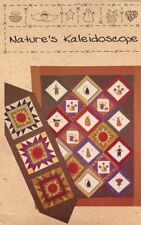 Nature's Kaleidoscope Quilt & Table Runner Quilt Country Pattern Leaflet NEW