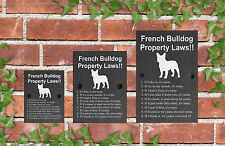 Property Laws Funny Dog Slate Gate House Sign 3 Sizes ALL BREEDS AVAILABLE D-L