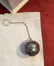 Stunning Antique Rarer Gorham Sterling Silver Tea Ball Pierced w/Garland  B2659