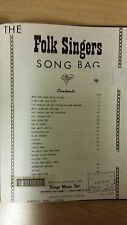 The Folk Singers Song Bag: Music Score (D5)