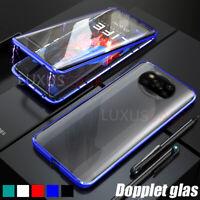 Xiaomi POCO X3 NFC Magnet Metall Dual Glas Schutz Handy Hülle Tasche Case Cover