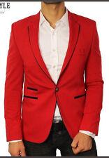 AX ROJO ROJA Diseñador Exclusivo Chaqueta Elegante Blazer Entallado Ajustado 46