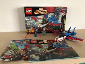 Lego Marvel Super Heroes 76076 Captain America Jet Pursuit 100% Complete