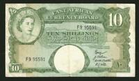 East Africa 10 Shillings 1958-60 P38f