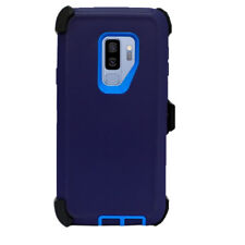 For Samsung Galaxy S9 Plus Case(Belt Clip Holster Fits Otterbox Defender) NAVY