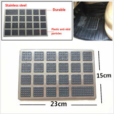 Car Floor Mat Carpet Anti-Slip Pedal Pad Sheet Square Stainless Steel Universal
