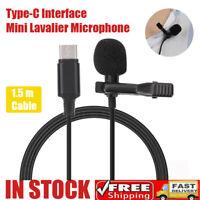 Mini Microfono Tipo-C Interfaccia audio Lavalier Microfono per collare per