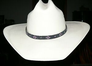 Native American Styled Beaded Hatband on leather cord.Western Cowboy/Cowgirl