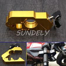 Gold Motocycle Handlebar Brake Lever Lock Security Anit Theft CapsLock Aluminum