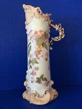 German Rudolstadt Pitcher Floral Porcelain Ewer Pitcher cir. 1904-1924 MINT