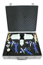 3x HVLP Spraypistole Lackierpistole Set Druckminderer Koffer Spritzpistole Luft